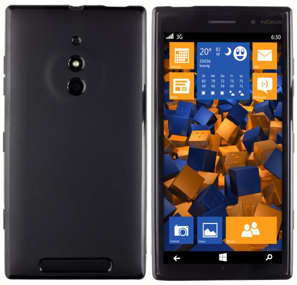 TPU Hülle schwarz für Nokia Lumia 830