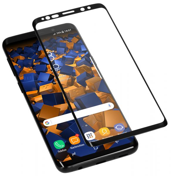 3D Panzerglasfolie Full Screen 6H transparent für Samsung Galaxy S9