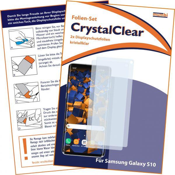 Displayschutzfolie 2 Stck. CrystalClear für Samsung Galaxy S10