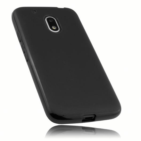 TPU Hülle schwarz für Lenovo Moto G4 Play