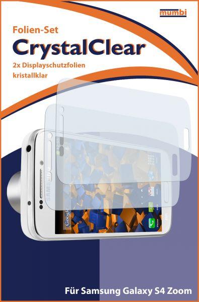 Displayschutzfolie 2 Stck. CrystalClear für Samsung Galaxy S4 Zoom