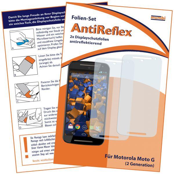 Displayschutzfolie 2 Stck. AntiReflex für Motorola Moto G 2. Generation
