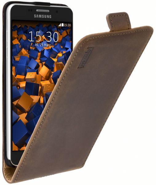 Flip Case Ledertasche braun für Samsung Galaxy A5 (2016)
