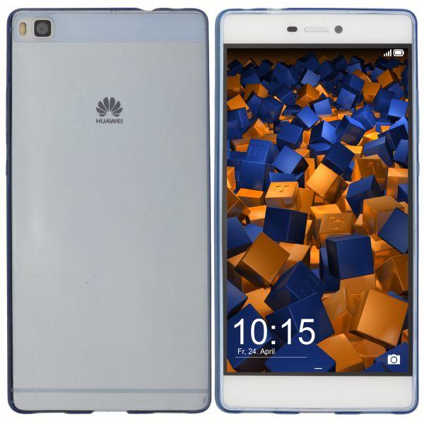 TPU Hülle Ultra Slim blau transparent für Huawei P8