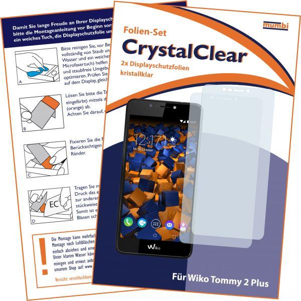Displayschutzfolie 2 Stck. CrystalClear für Wiko Tommy 2 Plus