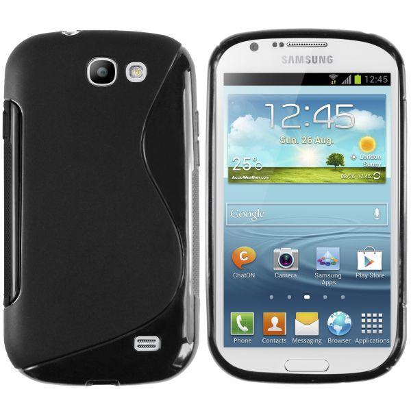 TPU Hülle S-Design schwarz für Samsung Galaxy Express