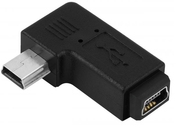 Winkeladapter Mini USB Buchse auf Mini USB Stecker ideal für Navigationsgeräte TomTom Navigon Be