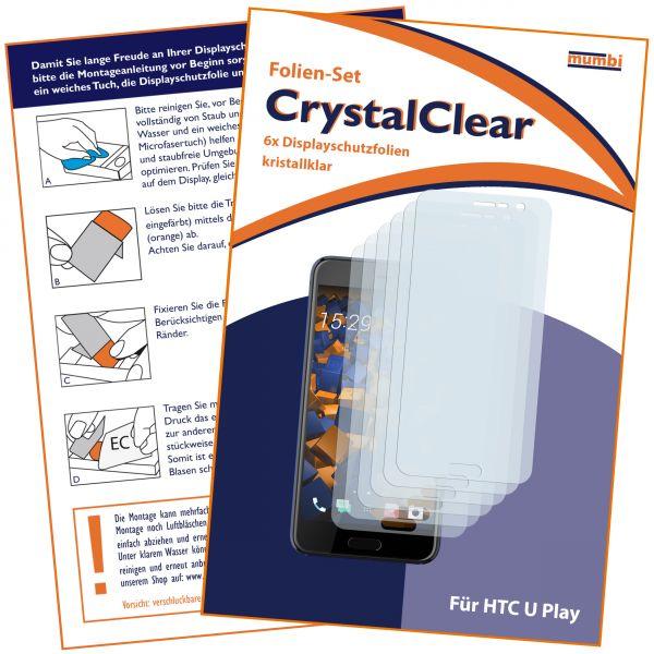 Displayschutzfolie 6 Stck. CrystalClear für HTC U Play