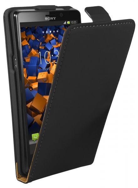 Flip Case Tasche schwarz für Sony Xperia T