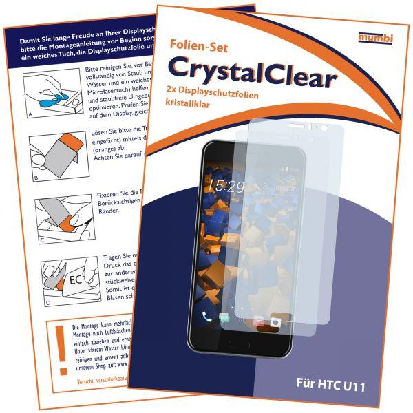 Displayschutzfolie 2 Stck. CrystalClear für HTC U11