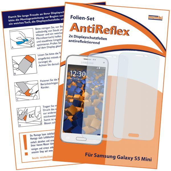 Displayschutzfolie 2 Stck. AntiReflex für Samsung Galaxy S5 Mini
