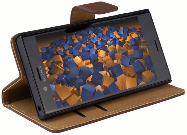 Bookstyle Tasche braun für Sony Xperia X Compact