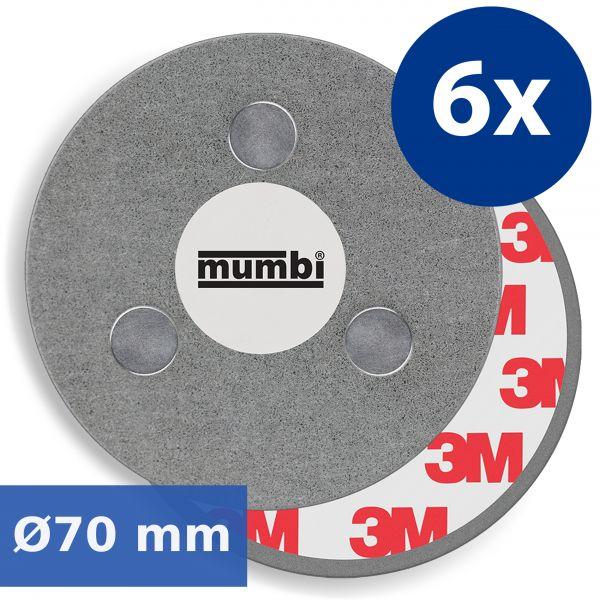 Magnetbefestigungen für Rauchmelder 6er Set