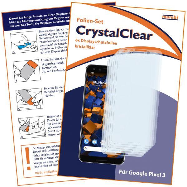 Displayschutzfolie 6 Stck. CrystalClear für Google Pixel 3