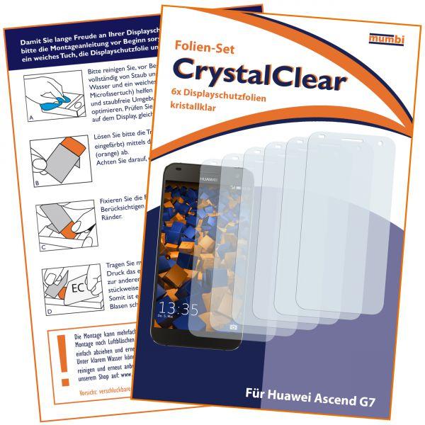 Displayschutzfolie 6 Stck. CrystalClear für Huawei Ascend G7