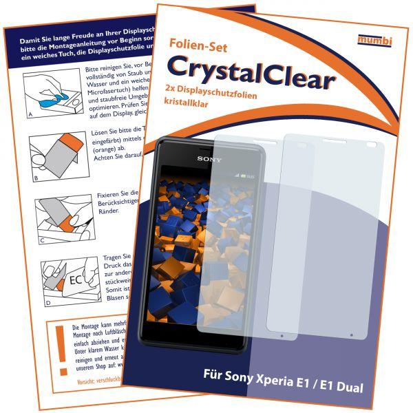 Displayschutzfolie 2 Stck. CrystalClear für Sony Xperia E1 / E1 Dual