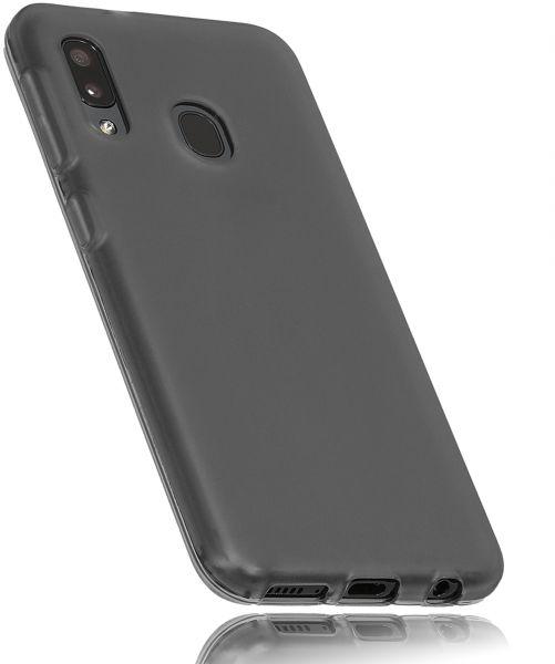 TPU Hülle schwarz transparent für Samsung Galaxy A20e