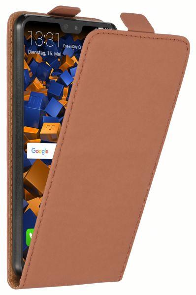 Flip Case Tasche braun für Huawei P20 Pro