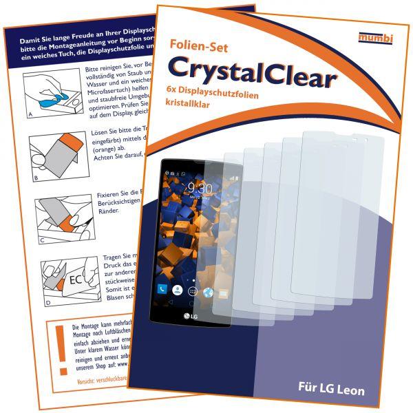 Displayschutzfolie 6 Stck. CrystalClear für LG Leon