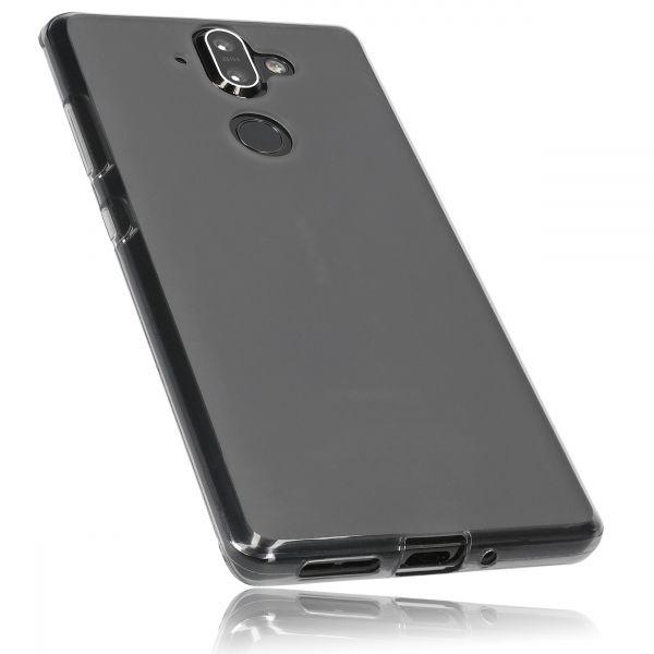 TPU Hülle schwarz transparent für Nokia 8 Sirocco