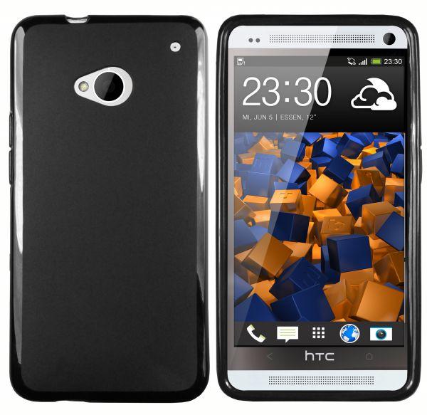 TPU Hülle schwarz für HTC One
