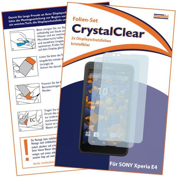 Displayschutzfolie 2 Stck. CrystalClear für Sony Xperia E4