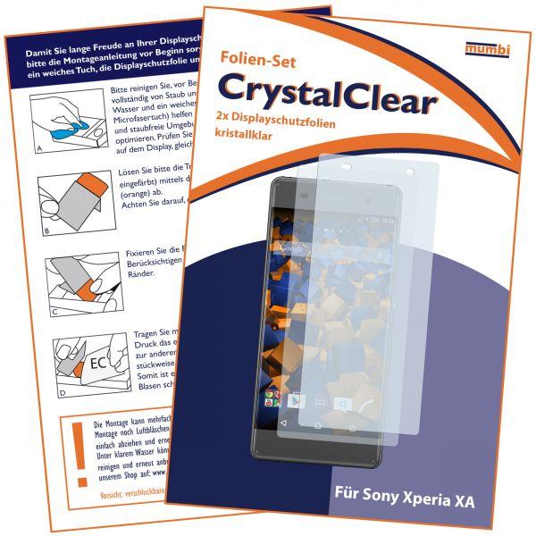 Displayschutzfolie 2 Stck. CrystalClear für Sony Xperia XA