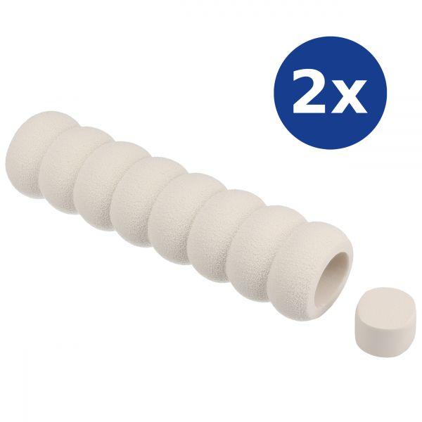 2er Set Türklinkenschutz weiß, aus Schaumstoff