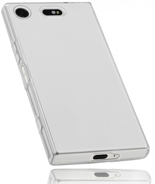 TPU Hülle weiß transparent für Sony Xperia XZ1 Compact