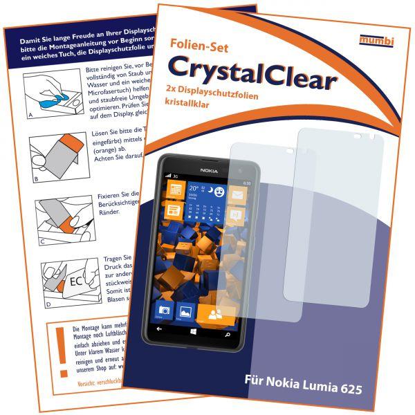 Displayschutzfolie 2 Stck. CrystalClear für Nokia Lumia 625