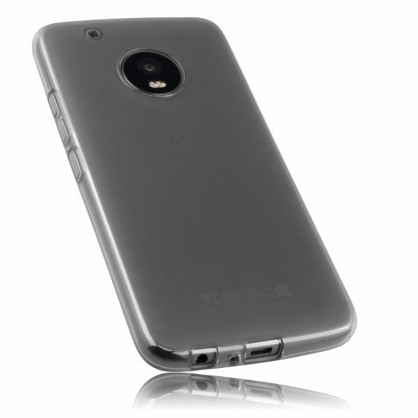 TPU Hülle schwarz transparent für Motorola Moto G5 Plus
