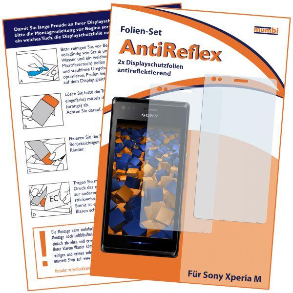 Displayschutzfolie 2 Stck. AntiReflex für Sony Xperia M