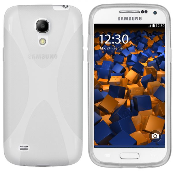 TPU Hülle X-Design weiß transparent für Samsung Galaxy S4 mini