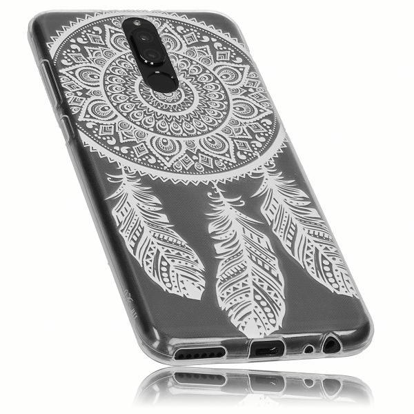 TPU Hülle Ultra Slim transparent Motiv Traumfänger für Huawei Mate 10 Lite