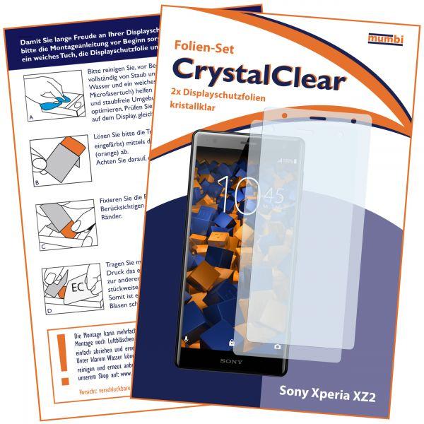 Displayschutzfolie 2 Stck. CrystalClear für Sony Xperia XZ2