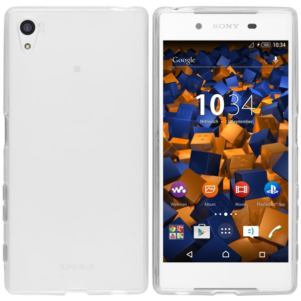 TPU Hülle weiß transparent für Sony Xperia Z5