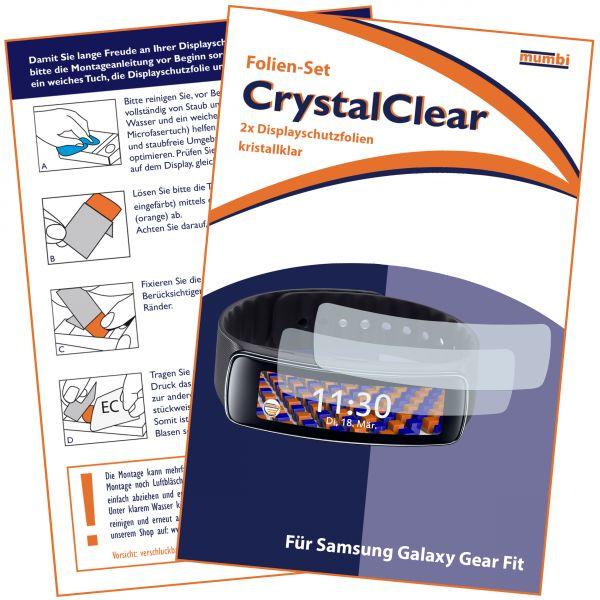 Displayschutzfolie 2 Stck. CrystalClear für Samsung Gear Fit