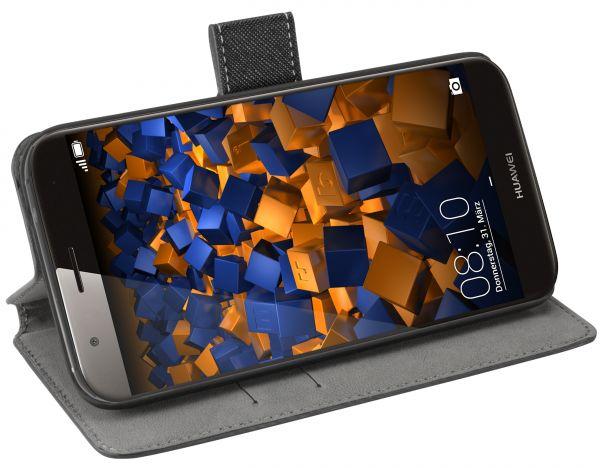 Bookstyle Tasche schwarz für Huawei G8 / GX8