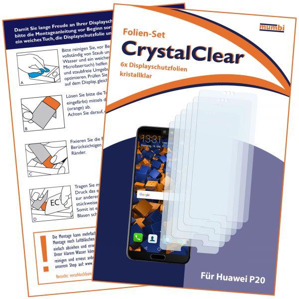 Displayschutzfolie 6 Stck. CrystalClear für Huawei P20