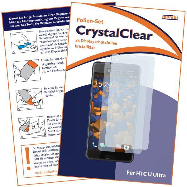 Displayschutzfolie 2 Stck. CrystalClear für HTC U Ultra