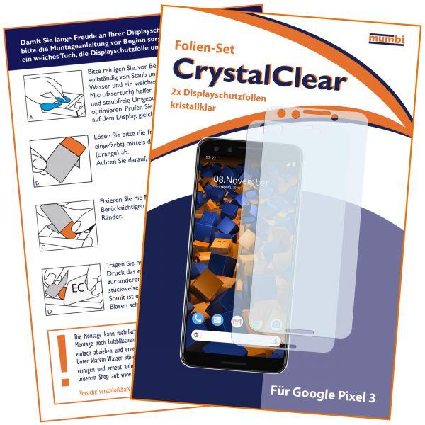 Displayschutzfolie 2 Stck. CrystalClear für Google Pixel 3