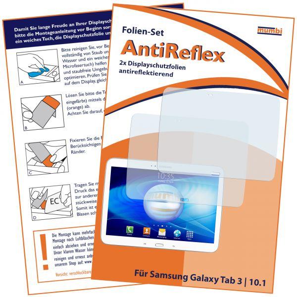 Displayschutzfolie 2 Stck. AntiReflex für Samsung Galaxy Tab 3 (10,1 Zoll)
