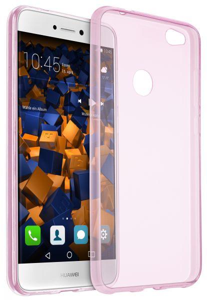 TPU Hülle Ultra Slim rosa transparent für Huawei P8 Lite (2017)