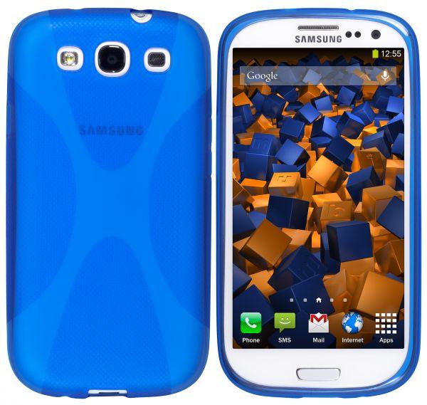 TPU Hülle X-Design transparent blau für Samsung Galaxy S3 / S3 Neo
