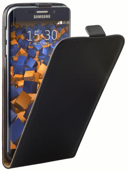 Flip Case Tasche schwarz für Samsung Galaxy S6 Edge Plus