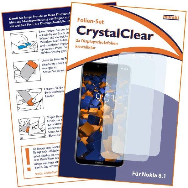 Displayschutzfolie 2 Stck. CrystalClear für Nokia 8.1