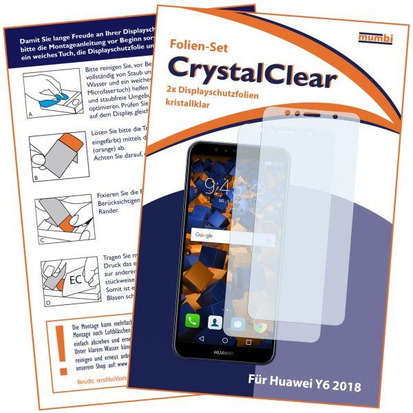 Displayschutzfolie 2 Stck. CrystalClear für Huawei Y6 (2018)