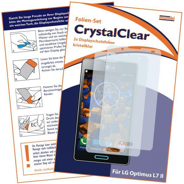 Displayschutzfolie 2 Stck. CrystalClear für LG Optimus L7 II