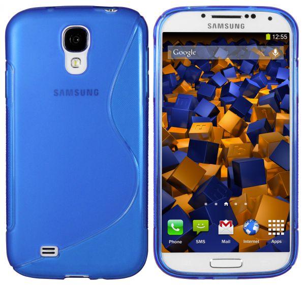 TPU Hülle S-Design blau für Samsung Galaxy S4
