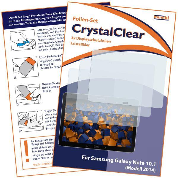 Displayschutzfolie 3 Stck. CrystalClear für Samsung Galaxy Note 10.1 Modell 2014